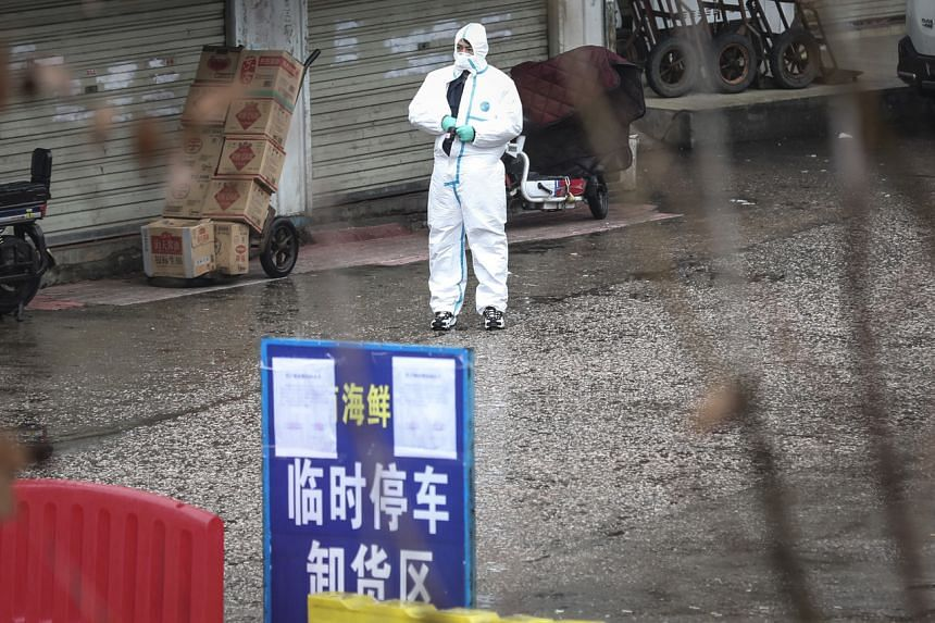 A seafood market in Wuhan is suspected to be at the centre of the coronavirus outbreak.