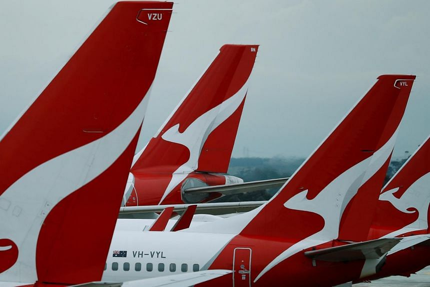 Qantas aircraft on the tarmac in Australia. The Qantas Airways aircraft used in the evacuation has medical grade air filters, which eliminate 99 per cent of particles, including viruses.
