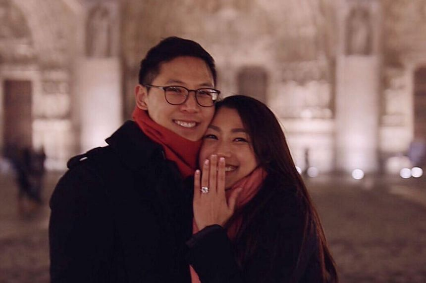 Hong Kong singer Lesley Chiang (right) announced her marriage to her boyfriend of three years on Instagram on Feb 2, 2020.