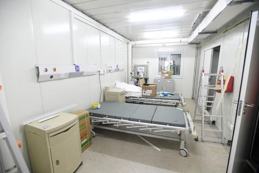 A view of a ward in Huoshenshan Hospital in Wuhan, China, on Feb 2, 2020.