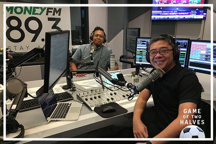 Money FM's Bernard Lim (right) is this week joined by ST sports correspondent Sazali Abdul Aziz (left) on this episode of #GameOfTwoHalves.