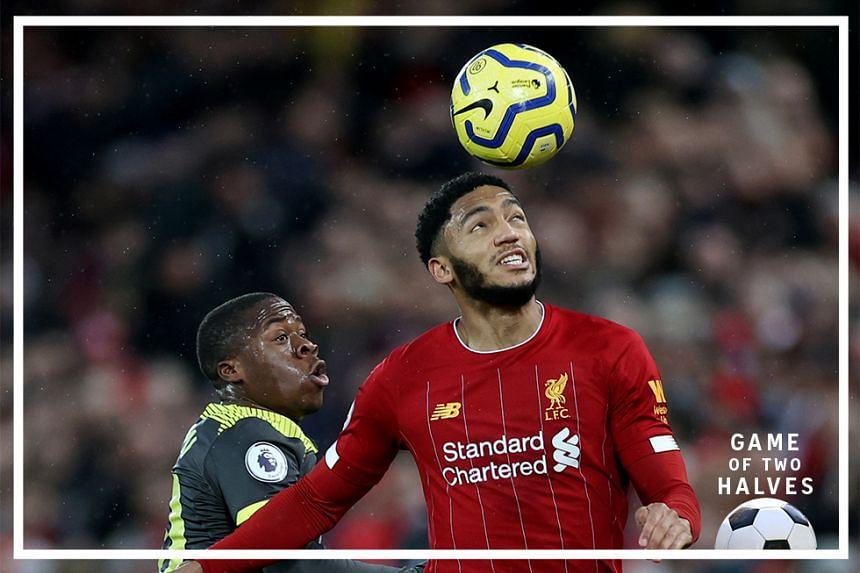 Liverpool's Joe Gomez in action.