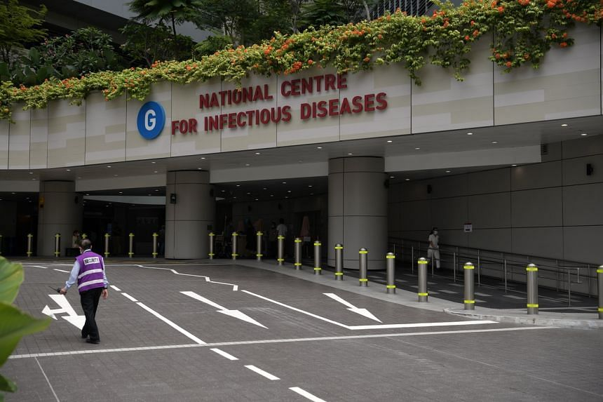 The National Centre for Infectious Diseases at Tan Tock Seng Hospital. Singapore has recorded its first cases of local coronavirus transmission.