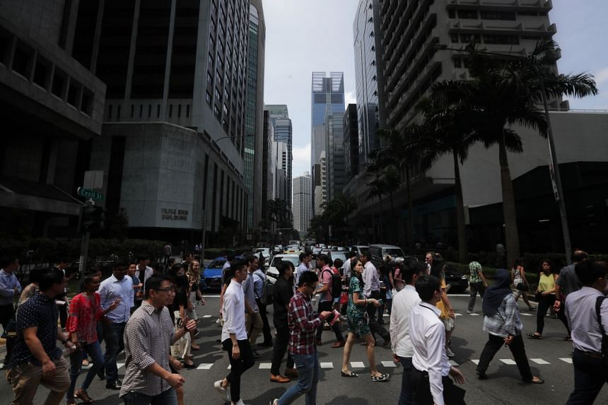 Lunch crowd in the Central Business District (CBD) area on Jan 17, 2020.