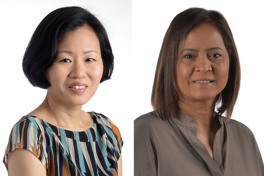 From left: Forum moderator Lydia Lim and panellist Sandra Davie, both from Singapore Press Holdings.