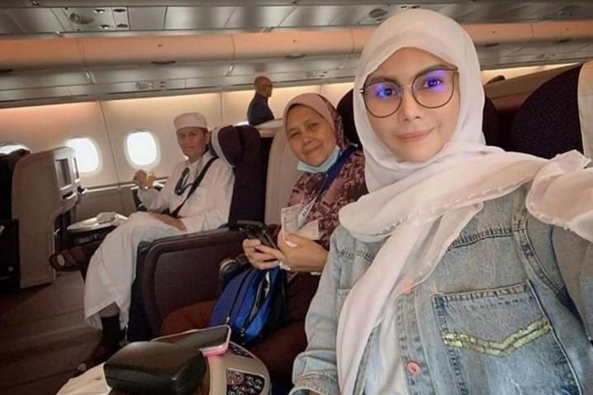 Nur Sajat (right) previously revealed that she was born a hermaphrodite and raised as a man, but preferred doing women's activities.