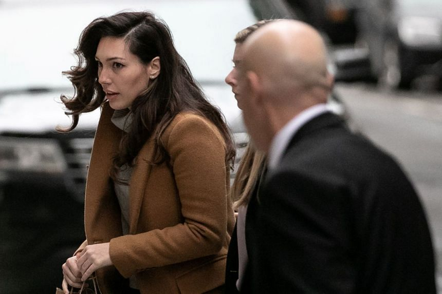 Jessica Mann arrives to testify in the trial of Harvey Weinstein in New York, Feb4, 2020.