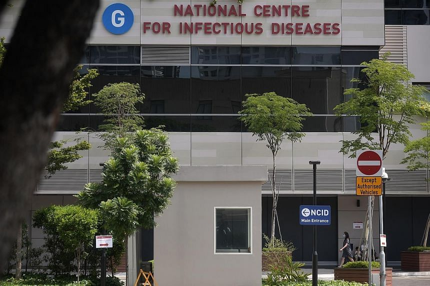 The 35-year-old Chinese national who tested positive for the coronavirus earlier but has since recovered was discharged from the National Centre for Infectious Diseases yesterday. Ministry of Health's director of medical services Kenneth Mak said ano