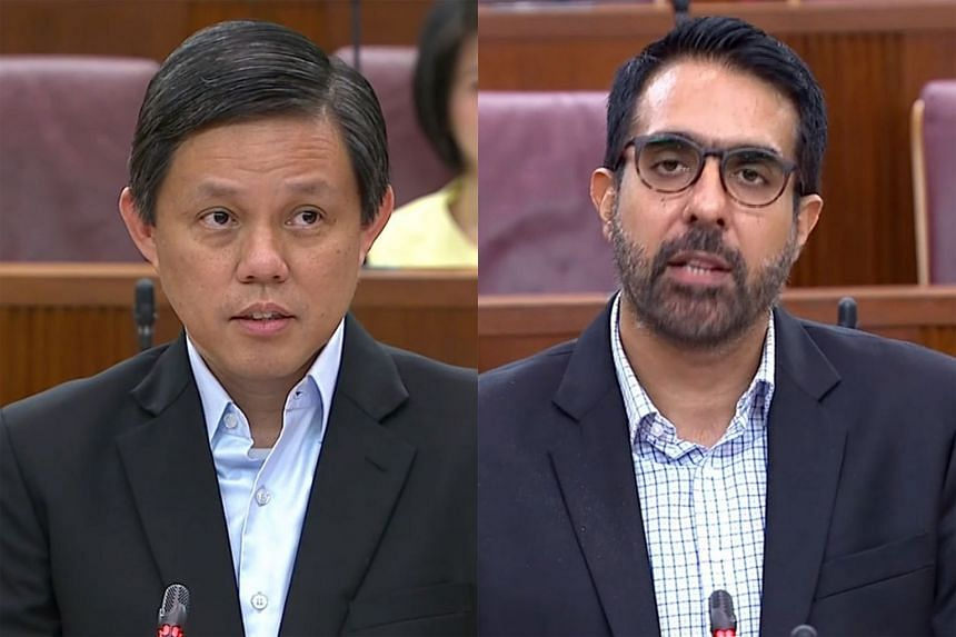 The issue of whether Singapore should work towards zero growth in its foreign manpower sparked an exchange between Trade and Industry Minister Chan Chun Sing and Workers' Party chief Pritam Singh yesterday.