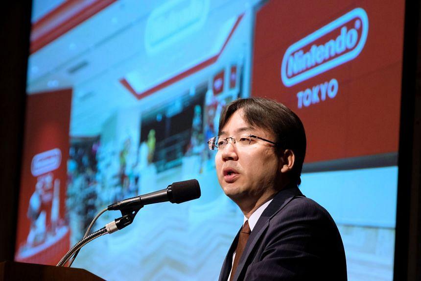 Nintendo president Shuntaro Furukawa at a briefing on the company's financial results at a hotel in Tokyo last Friday.