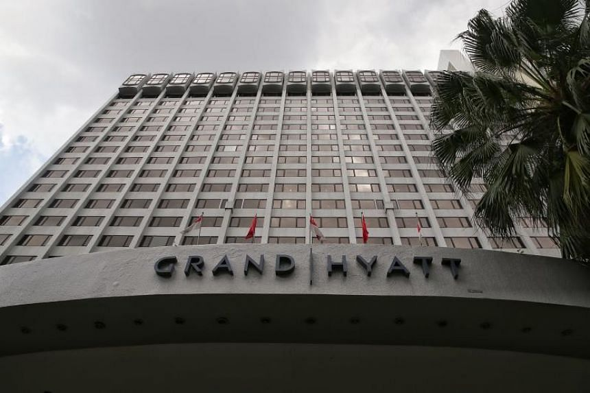 Singapore's Health Ministry said that the meeting involving the Malaysian took place at the Grand Hyatt Hotel.
