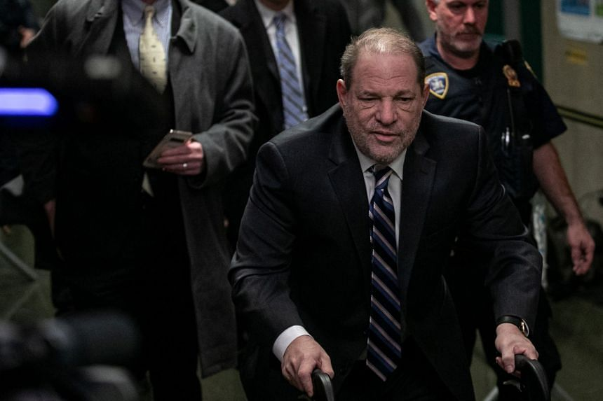 Weinstein arrives for his sexual assault trial in New York City, Feb 5, 2020.