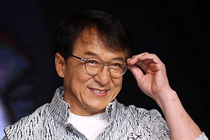 Hong Kong action star Jackie Chan.