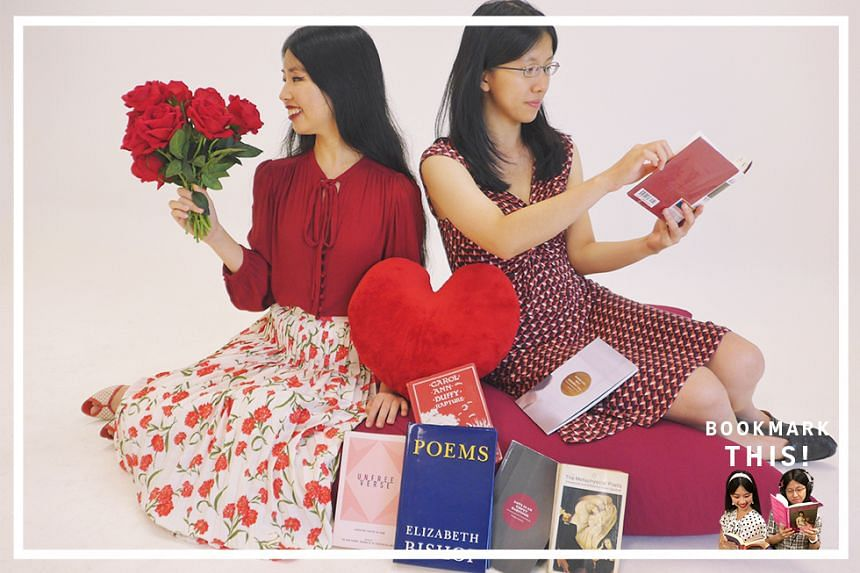 With Valentine's Day around the corner, Life journalists Olivia Ho (left) and Toh Wen Li (right) chat about love poems across the spectrum, whether it is John Donne or Joshua Ip, budding romance or broken hearts, having a Coke together or keeping th