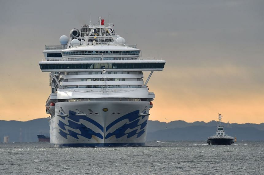 The Diamond Princess cruise ship with over 3,000 people on board arrives at Yokohama port on Feb 6, 2020. The ship was caught up in the coronavirus epidemic after an 80-year-old passenger tested positive for the virus on Jan 25.