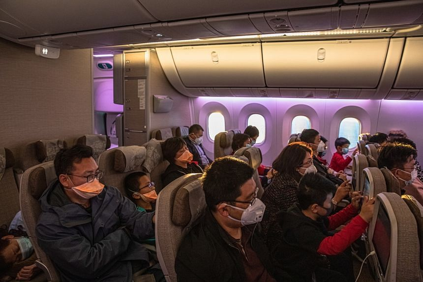 The virus can't survive long on seats or armrests, so physical contact with another person carries the greatest risk of infection on a flight, according to a medical adviser to the world's airlines.