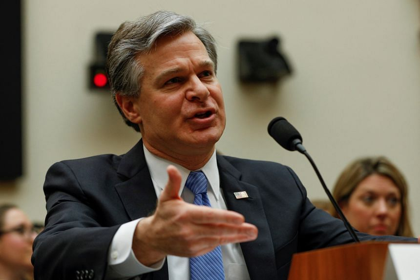 US Federal Bureau of Investigation Director Christopher Wray testifies before the House Judiciary Committee on Capitol Hill in Washington, DC, on Feb 5, 2020.