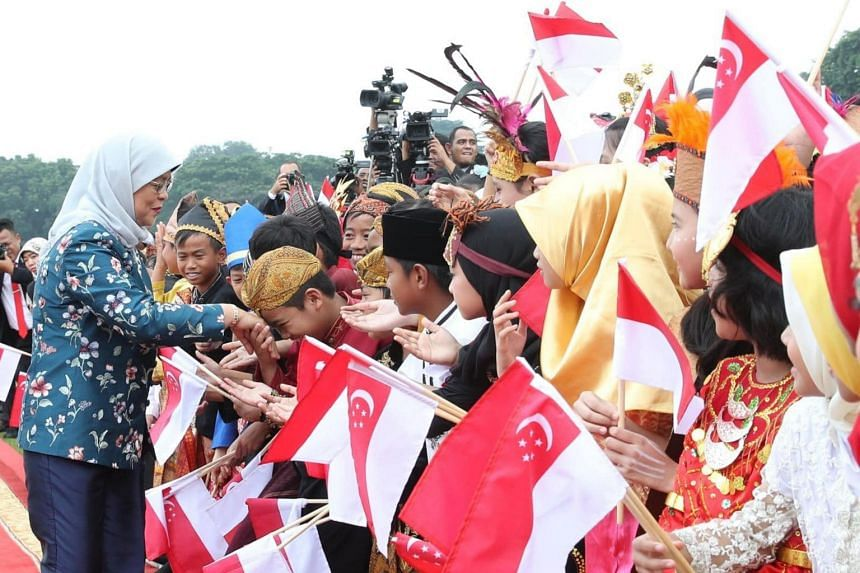 President Halimah Yacob concludes her first state visit to Indonesia on Feb 6, 2020.