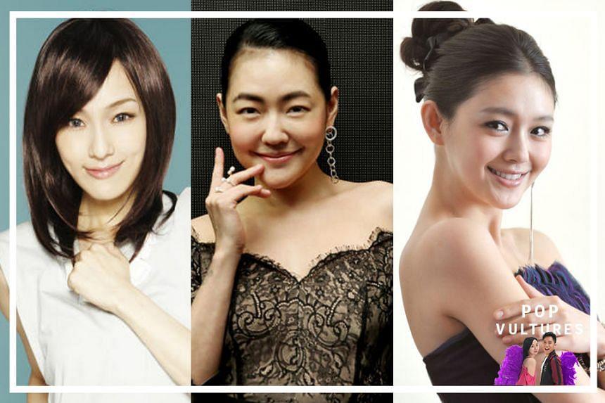 (From left) Christine Fan, Dee Hsu and Barbie Hsu.