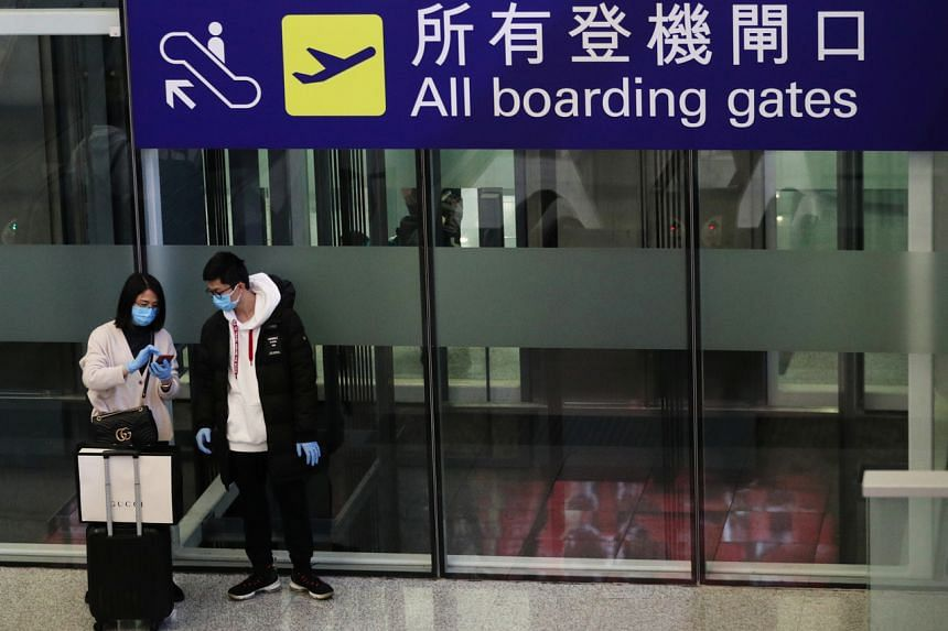 The case highlights how air travel can spread the virus which has killed more than 600 people in China, where the outbreak first began.