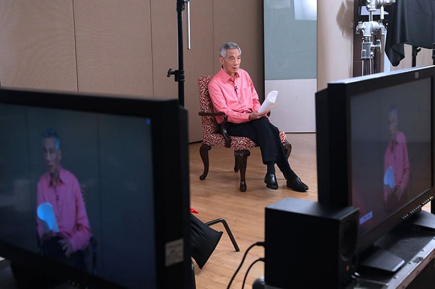 Prime Minister Lee Hsien Loong speaking on the coronavirus situation in Singapore on Feb 8, 2020.