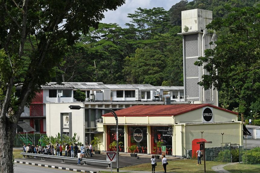 A photo of the recently conserved1956 Bukit Timah Fire Station, taken on Jan 15, 2020.
