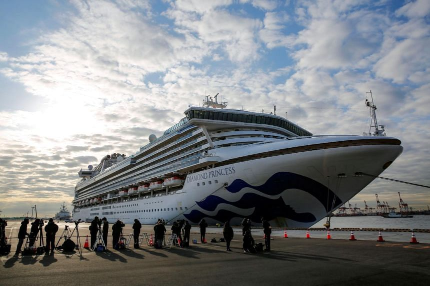 Japanese authorities have so far tested about 280 people on board the Diamond Princess after a former passenger was diagnosed with the virus.