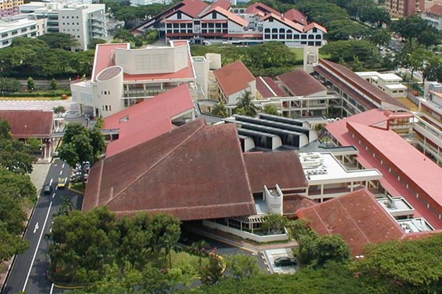 An aerial view of Victoria Junior College. The teacher, who is warded in an isolation room, had not interacted with any colleagues or students after she began showing symptoms.