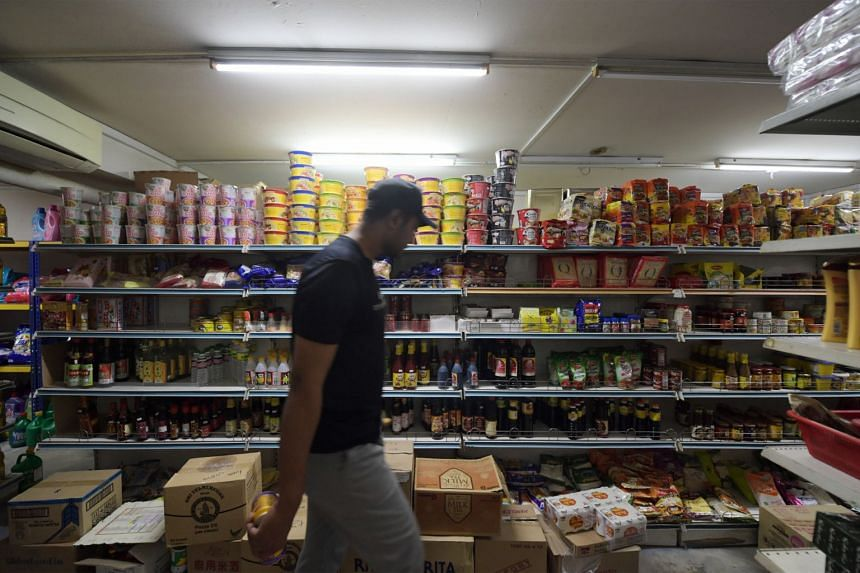 The Vidya Super Mart at Block 306B Canberra Road on Feb 8, 2020. The store is well-stocked with food items such as instant noodles and rice.