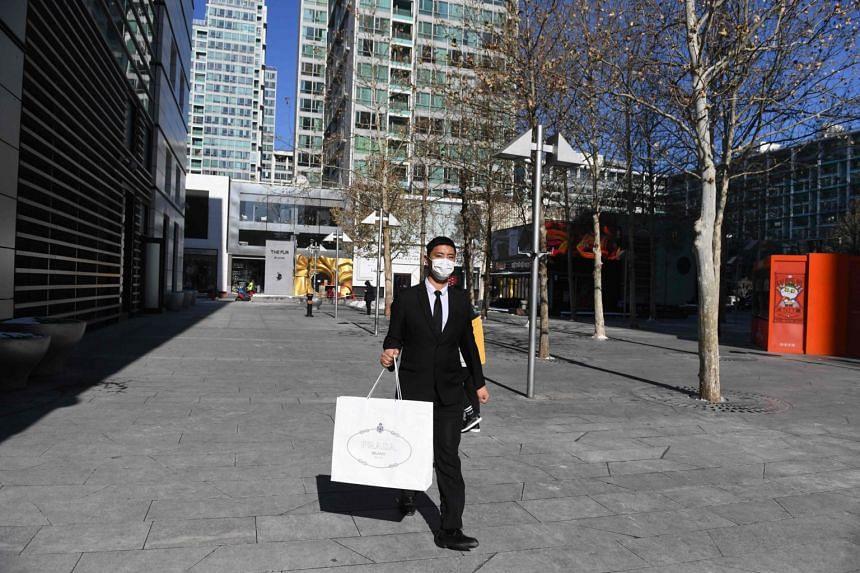 A luxury mall in Beijing on Feb 8, 2020.
