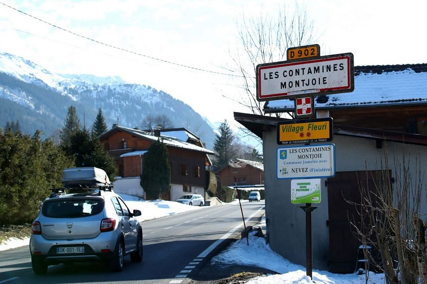 A general view shows the French Alpine resort of Les Contamines-Montjoie, France.