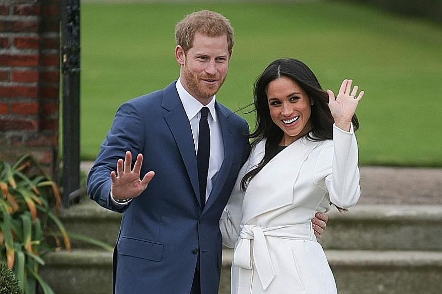 Prince Harry and his American wife Meghan Markle.