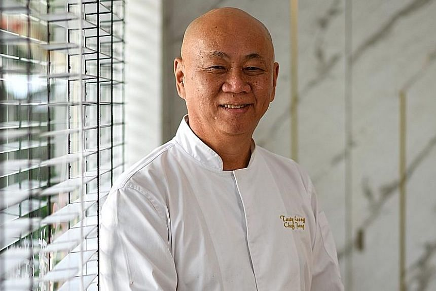 Chef Pung Lu Tin (above) of Tasty Loong gets about 100 orders a week for his sweet and sour pork on ice.