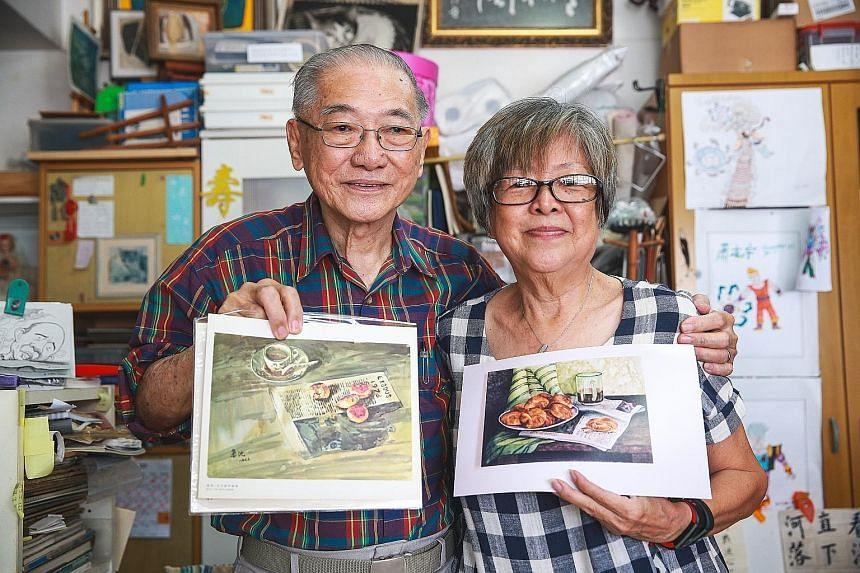 Mr Seow Cheong Choon and Madam Lee Geok Hua share a common love of art.