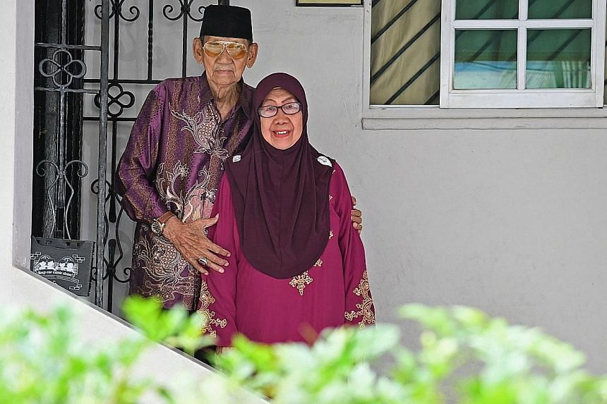 Mr Haji Supahat Haji Mohamed and Madam Hajjah Siti Sa'oodah Haji Kassim say their love deepened after they had children.