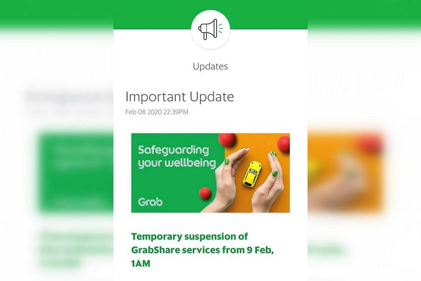 Grab said the decision was made in order to minimise contact in light of more confirmed cases of the coronavirus in Singapore.