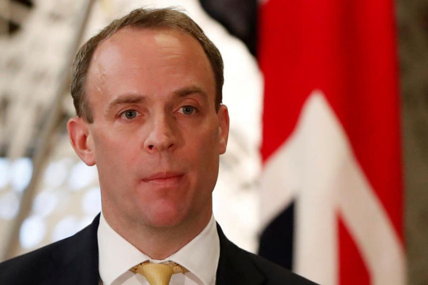 British Foreign Secretary Dominic Raab will be arriving in Singapore on Feb 10, 2020.