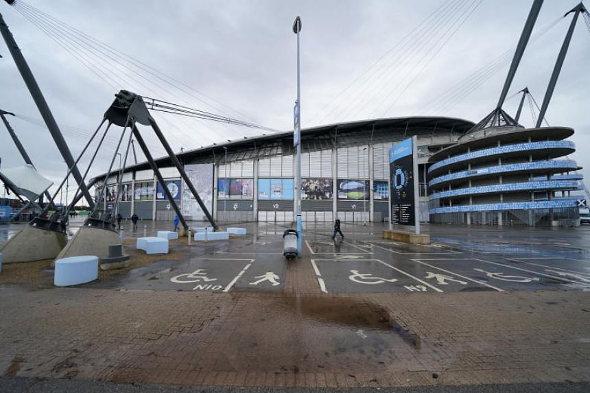 The match between Manchester City and West Ham United at Etihad Stadium (pictured) on Feb 9, 2020, has been postponed because of the incoming Storm Ciara.