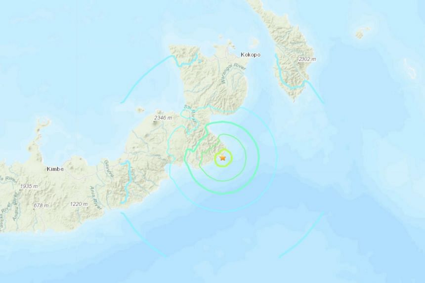 The quake hit just after 4pm local time, some 122km south of Kokopo.