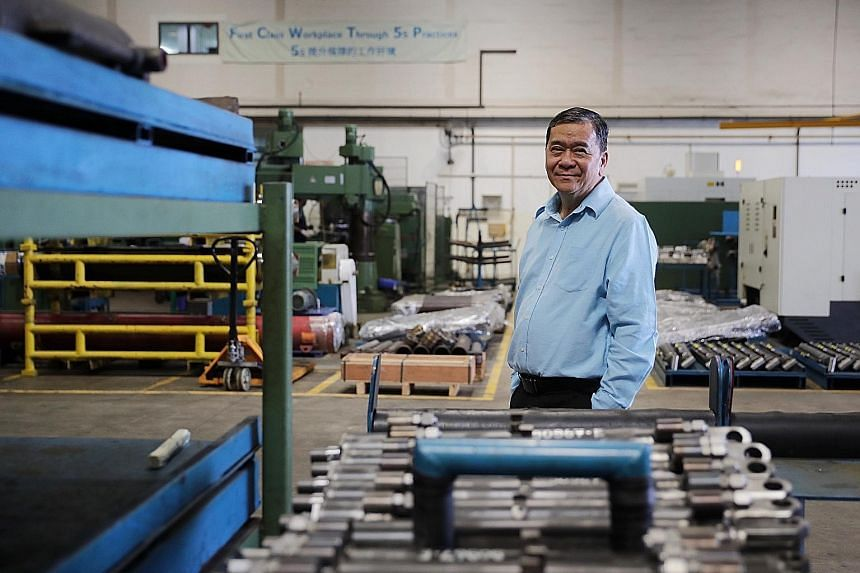 OE Manufacturing managing director James Wong, seen here at his firm's Pioneer Road premises, has been hit by the fallout from the virus outbreak, with operations at the firm's hydraulic cylinder factory in China's Jiangsu province suspended. He expe