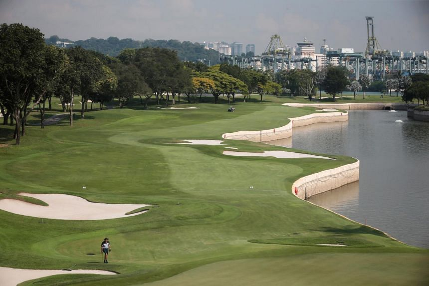 A view of the Serapong golf course at Sentosa Golf Club on Oct 29, 2019.