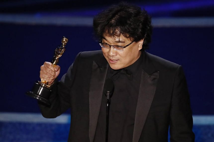 Director Bong Joon Ho accepts the Oscar for Achievement in Directing for Parasite during the 92nd annual Academy Awards ceremony in Hollywood on Feb 9, 2020.
