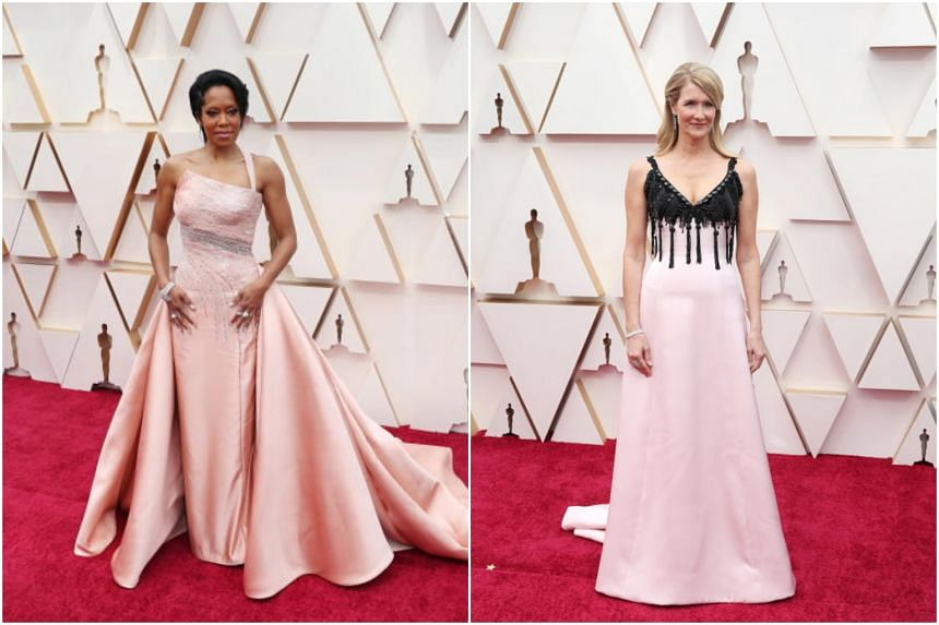 Actress and director Regina King (left) and actress Laura Dern at the 92nd Oscars at the Dolby Theatre in Hollywood on Feb 9, 2020.