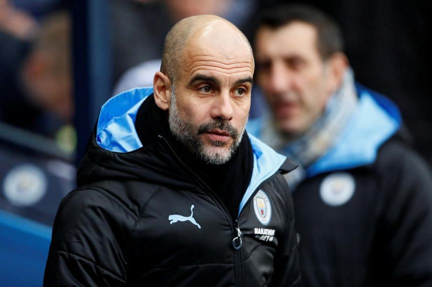 Manchester City manager Pep Guardiola seen during the FA Cup football match against Fulham on Jan 26, 2020.