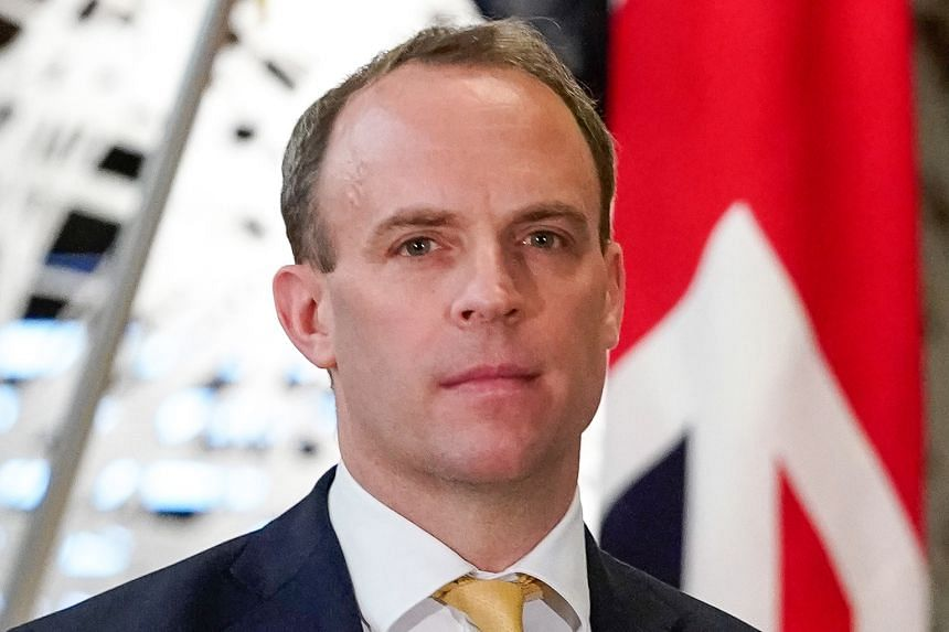 MR DOMINIC RAAB, British Foreign Secretary.