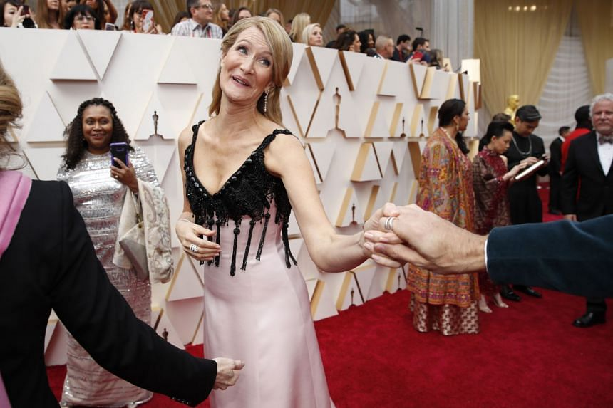 Laura Dern on the red carpet at the 92nd Academy Awards in Hollywood on Feb 9, 2020.
