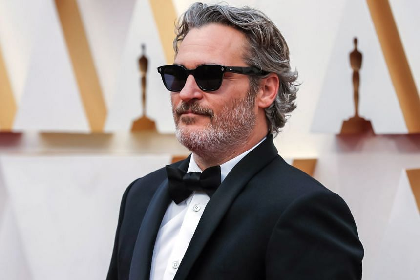 Joaquin Phoenix arrives for the 92nd annual Academy Awards ceremony in Hollywood, on Feb 9, 2020.