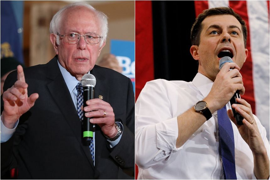 Democratic presidential contenders Bernie Sanders (left) and Pete Buttigieg, who were essentially tied for the top two spots in the Iowa caucuses, offer stark alternatives for the top of the Democratic ticket.