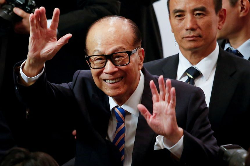 Mr Li Ka-shing, 91, has a net worth of about US$28.3 billion, according to the Bloomberg Billionaires Index.