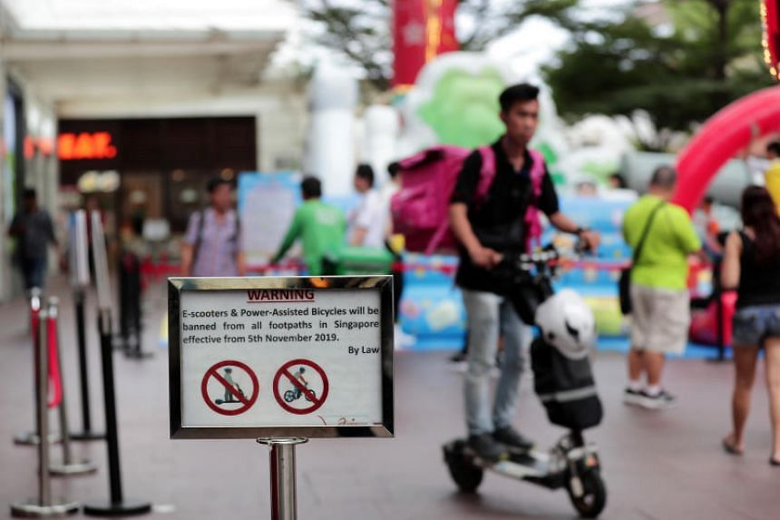 Since the ban from footpaths, e-scooters can only be ridden on the 440km of cycling paths islandwide.
